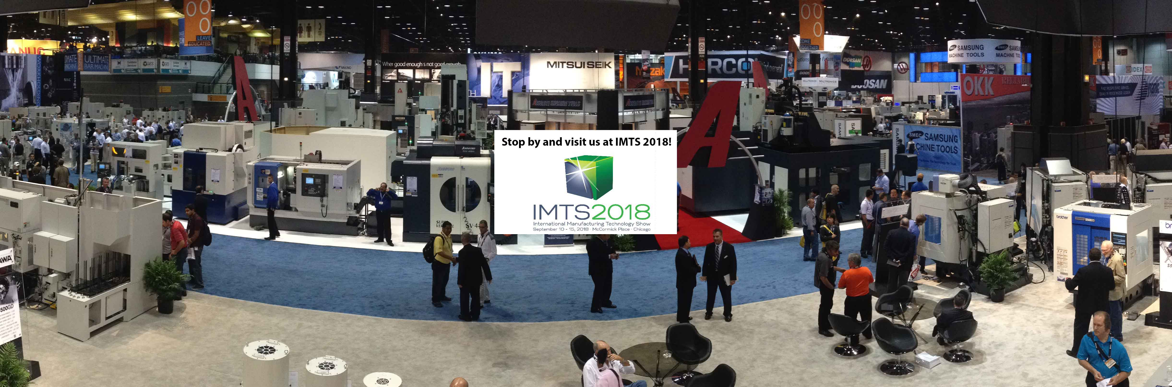 Visit us at IMTS 2018